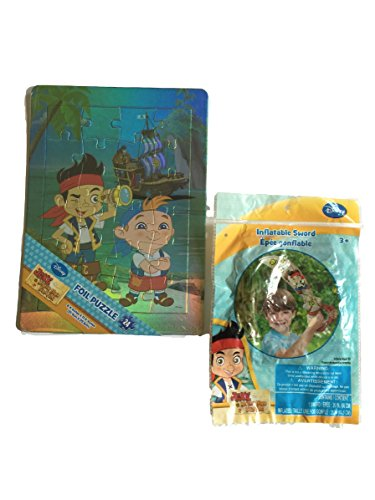 Jake and the Never Land Pirates Foil Puzzle w/ Bonus Inflatable Sword
