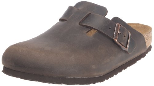 Birkenstock Boston Smooth Leather, Style-No. 260341, Unisex Clogs, Turf, EU 46, normal width