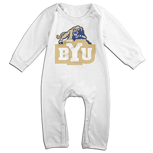 [ULEANDY Brigham Young University Logo Baby Romper Longsleeve Jumpsuit Costume 12 Months] (Cyberchase Costumes)