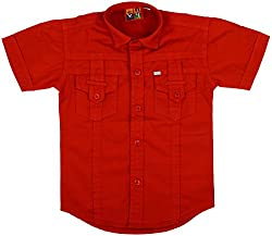 Titli Baby Boys Cotton Shirt (6-7 years, Red)