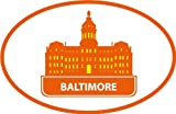 Baltimore Maryland USA Historical National Travel Bumper Sticker Decal 12 x 10 cm