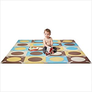 Playspot Foam Tiles in Blue / Gold