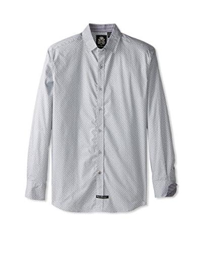 English Laundry Men's Patterned Long Sleeve Shirt