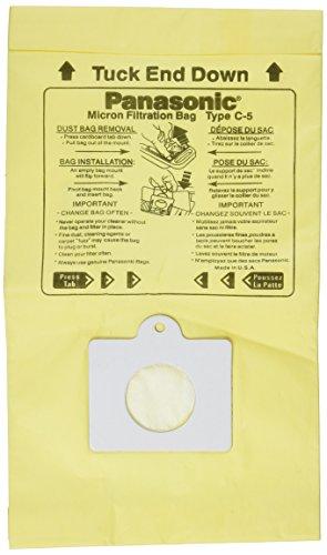 Panasonic C-5 Micron Filtration Vacuum Bags - 3 bags (Panasonic Vacuum Bags compare prices)