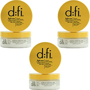 D:Fi Light Medium Hold Wax - 2.3 Oz - Set of 3