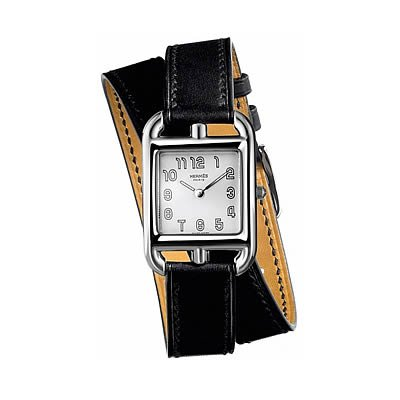 Hermes Cape Cod PM Small Ladies Quartz Watch with Double Wrap Strap - 020983WW00