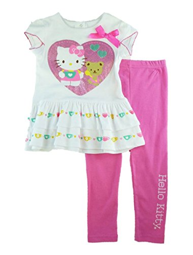 Hello Kitty Toddler Girl'S 2-Pc Ruffle Tunic & Pink Leggings Set (18M) front-903282