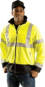 OccuLux Hi-Viz Breathable Windbreaker Jacket (ANSI Class 3) - Small