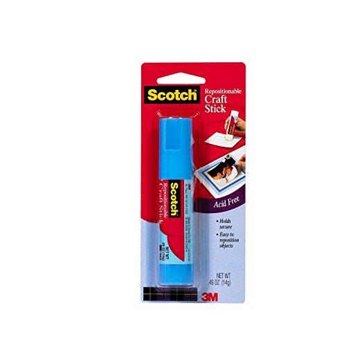 3M Scotch Glue Stick Restickable Adhesive 0.40 oz. (Removable Glue Stick compare prices)