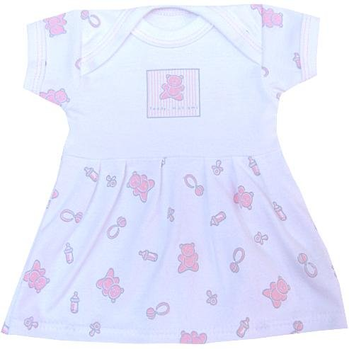 Premature Early Baby Clothes Pink 'Teddy Mon