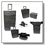 Professional Studio Pro SALON BLACK+BLACK Stylist Aluminum Make-Up Case