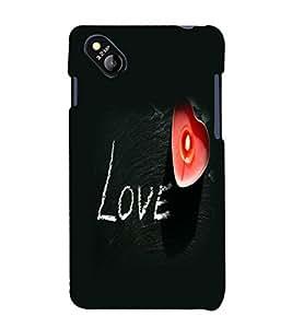 printtech Love Heart Light Back Case Cover for MicromaxBolt D303