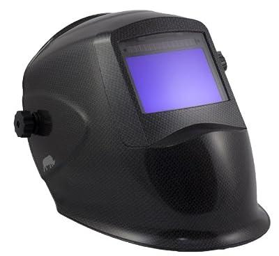 """Rhino Large View (4"""" X 2.6"""") + Grind - Auto Darkening Welding Helmet - Carbon Fiber RH01"""