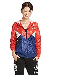 adidas Originals Women's Quilted Jacket (AB2184_Red and Blue_34)
