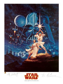 Star Wars A New Hope Limited Edition Print Autographed/Signed by The Brothers Hildebrandt