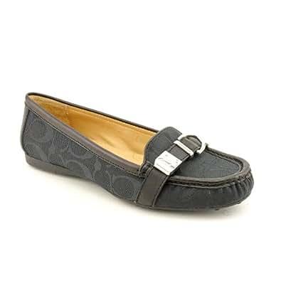 Amazon.com: Coach Flores Womens Size 7.5 Black Moc Textile Loafers