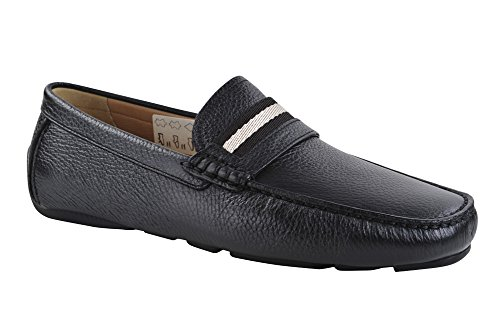 bally-switzerland-shoes-men-slip-on-drivers-smooth-leather-40-low-top-black