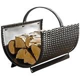 """Metal log basket """"polyrattan"""" washable"""