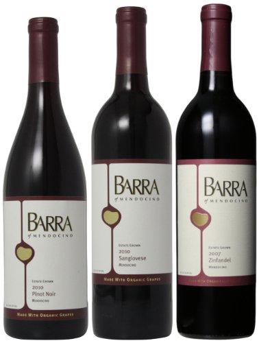 Barra of Mendocino BARRA of Mendocino Redwood Valley Various Reds Mixed Pack, 3 x 750 mL