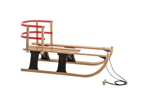 Hamax-Lillehammer-540026-Mini-luge-en-bois-de-htre-avec-Support-lombaire-Noirrable