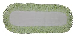 Industrial and Commercial Microfiber Dust Mop Pad (18 In. Border, Blue)