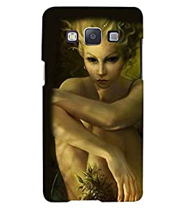 Printvisa Premium Back Cover Haunted Girl With Scary Eyes Design For Samsung Galaxy A7::Samsung Galaxy A7 A700F