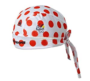 New Cycling Pirates Headband Team Red and White Spots Sweatproof Riding Hat by Headband