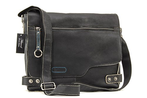 Borsa Messenger Ashwood in pelle - Camden - 8353 - Nero