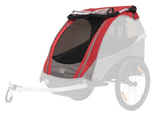 Burley Cover For D'Lite Bike Trailer, Red front-44180