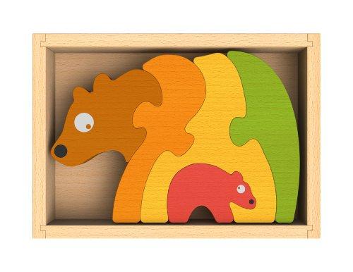 BeginAgain Bear Family Puzzle