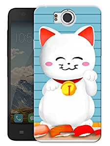 "Humor Gang Cute Kid Kitty Cat Printed Designer Mobile Back Cover For ""Google Infocus M530"" (3D, Matte Finish, Premium Quality, Protective Snap On Slim Hard Phone Case, Multi Color)"