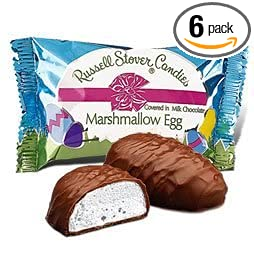 Russell Stover Marshmallow Egg Covered in Milk Chocolate (Pack of 6)