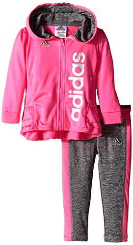 Adidas Baby Girls' Triple Stack Set, Sugar Plum, 24 Months