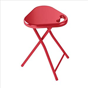 Atlantic Inc Folding Stool with Handle in True Red (Set of 4) by Atlantic Inc