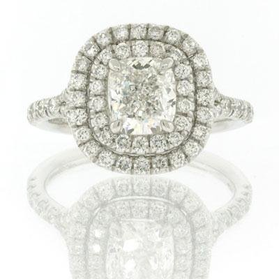 2.46ct Cushion Cut Diamond Engagement Anniversary