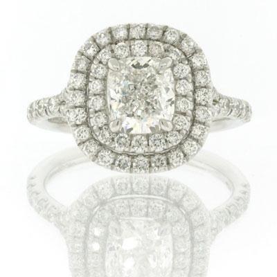 2.46ct Cushion Cut Diamond Engagement Anniversary