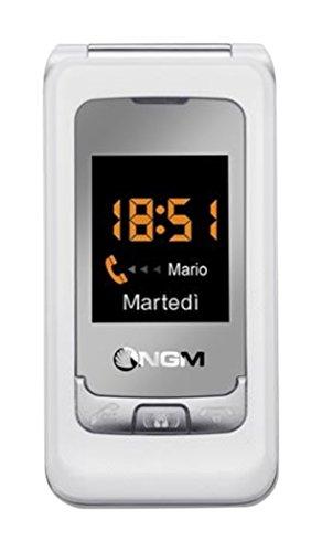 NGM Facile Sempre 2 Smartphone, Dual SIM, Bianco [Italia]
