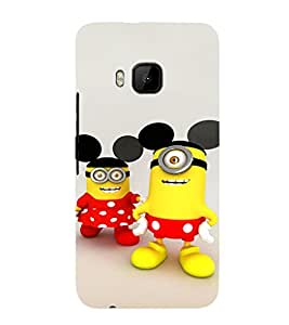 EPICCASE Minion with Mickey Ears Mobile Back Case Cover For HTC One M9 (Designer Case)