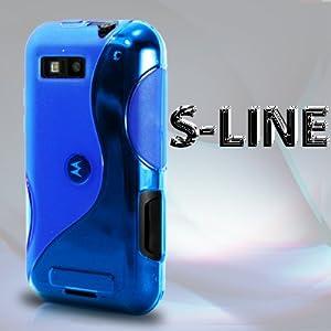 AIO Blue S Line Wave Gel Case For Motorola Defy MB525