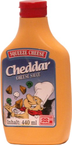 Old Fashioned Foods Cheddar Squeeze Cheese Microwaveable, 2er Pack (2 x 440 ml)