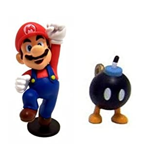super mario figuren set mario und bob omb in metallbox. Black Bedroom Furniture Sets. Home Design Ideas