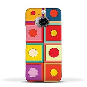 FUNKYLICIOUS HTC M9 Plus Back Cover Boxy Design (Multicolour)