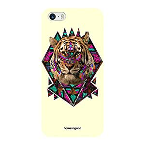 HomeSoGood Lord Tiger Yellow 3D Mobile Case For iPhone 5 / 5S (Back Cover)