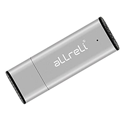 aLLreLi CP0341 2-in-1 8GB Mini USB Voice Recorder [Silver] - Portable Rechargeable Digital Spy Dictaphone & USB...