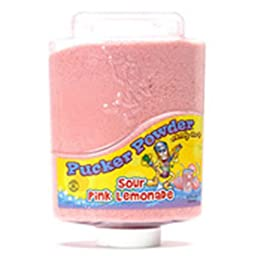Light Pink Lemonade Pucker Powder Candy Two 9 Ounce Bottles