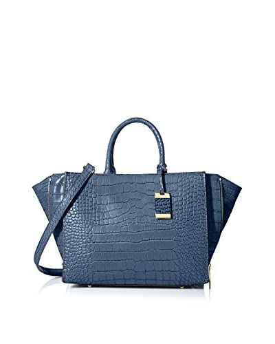 Christian Lacroix Women's Yvette Medium Croco Tote, Navy As You See