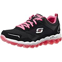 Skechers Women's Skech-Air RF Black and Hot Pink Leather Multisport Training Shoes - 7 UK/India (40 EU) (10 US)