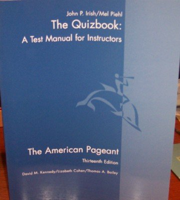 american pageant test manual