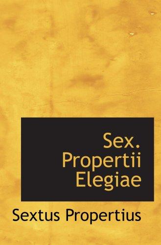Biography of Author Sextus. Propertius: Booking ...