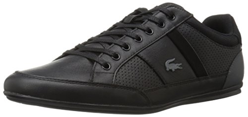 Lacoste Men's Chaymon 316 1 Cam Fashion Sneaker, Black/Dark Grey, 10.5 M US